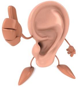 Thumbs up ear