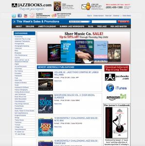 jazzbooks.com website development homepage 2007-2016