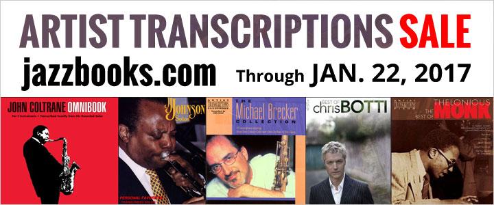 Jazz Artist Transcription Sale at jazzbooks.com