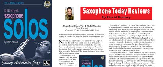 Saxophone Solos Vol. 2: Over Modal Classics