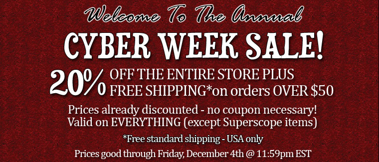 Cyber Monday - Save on the ENTIRE STORE!=